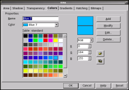 Colors tab