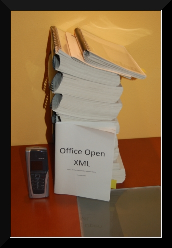 Yet another printed copy of OOXML