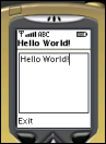 HelloWorld MIDlet in the different emulator