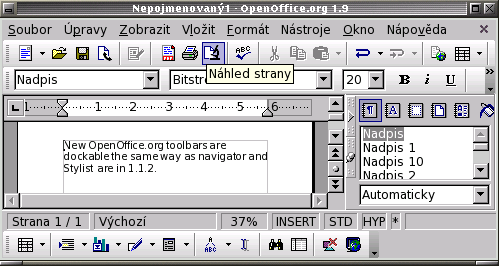 New OpenOffice.org toolbars